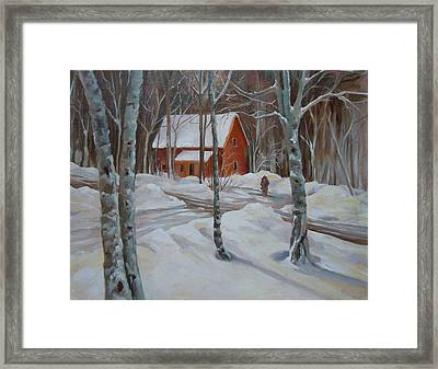 Winter In The Woods Framed Print