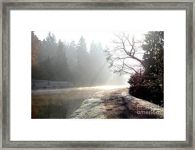 Winter Lake Framed Print
