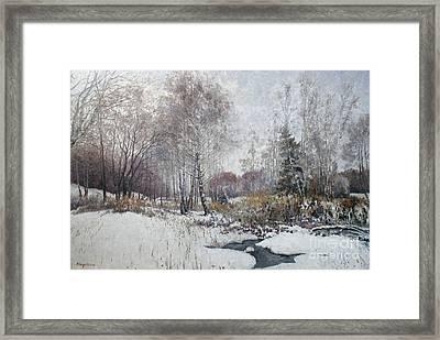 Winter Landscape Framed Print by Andrey Soldatenko