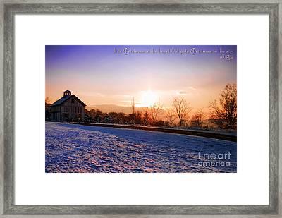 Winter Landscape Connecticut Usa Framed Print by Sabine Jacobs