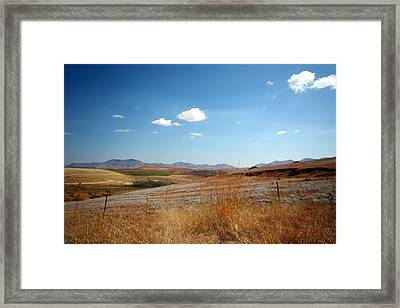 Winter Landscape In South Africa Framed Print