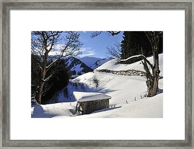 Winter Landscape Framed Print by Matthias Hauser