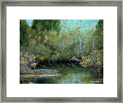 Framed Print featuring the painting Winter Leaves by AnnaJo Vahle