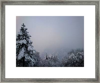 Framed Print featuring the photograph Winter by Lucy D