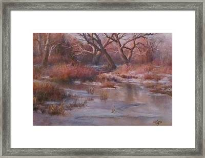 Winter Marsh Series - The Dance Framed Print