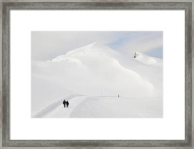 Winter Mountain Landscape With Lots Of Snow Framed Print by Matthias Hauser