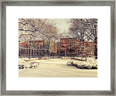 Winter - New York City Framed Print by Vivienne Gucwa
