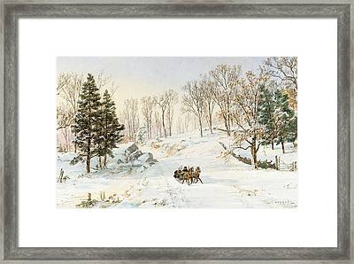 Winter On Ravensdale Road Framed Print