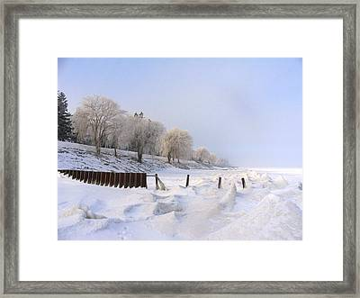 Winter On The Beach At Brights Grove Framed Print by Bruce Ritchie