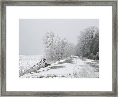 Winter On The Old Lakeshore Framed Print
