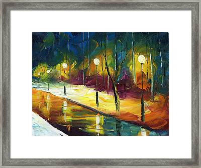 Winter Park Evening Framed Print by Ash Hussein