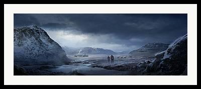 Snow Landscape Mixed Media Framed Prints