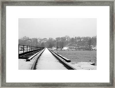 Winter Rails Framed Print by Joel Witmeyer
