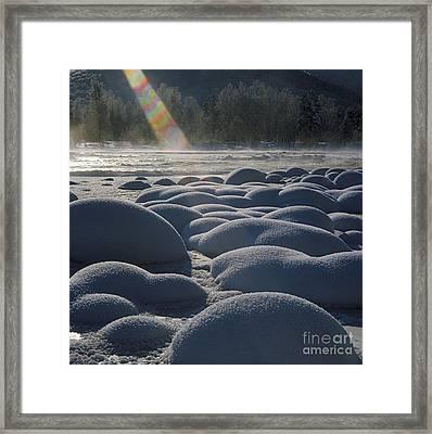 Winter Ray Framed Print by Elena Filatova