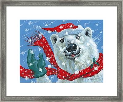 Winter Really Is A Blast Framed Print by Richard De Wolfe