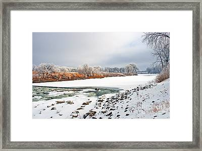 Winter Red River 2012 Framed Print by Steve Augustin