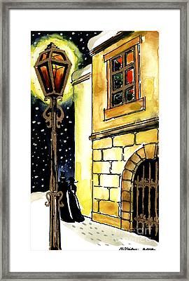 Winter Romance Framed Print by Mona Edulesco