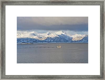 Winter Sea Framed Print by Frank Olsen