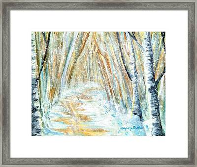 Framed Print featuring the painting Winter by Shana Rowe Jackson