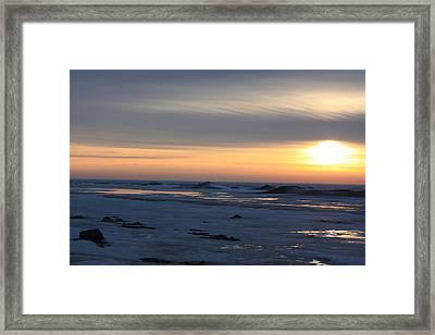 Winter Sleeps Framed Print