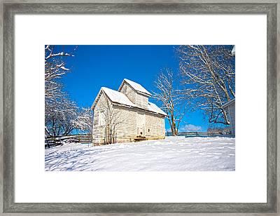 Winter Smoke House Framed Print