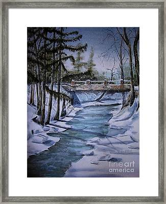 Winter Solitude Framed Print by Marylyn Wiedmaier