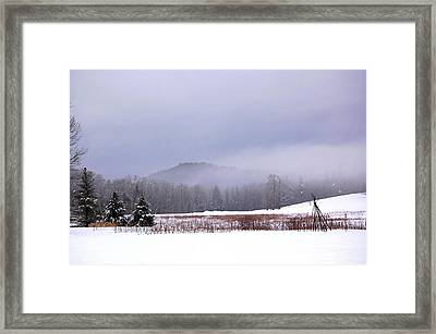 Framed Print featuring the photograph Winter Strata by Mary McAvoy