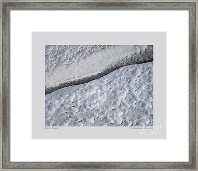 Framed Print featuring the photograph Winter Stream by Patricia Overmoyer