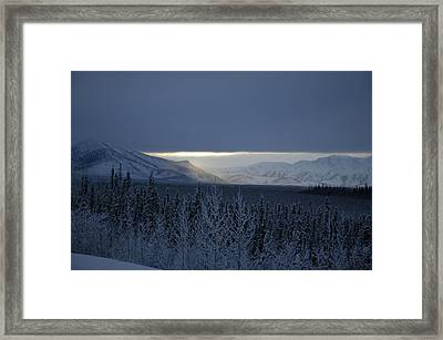Winter Sun Alaska Framed Print by John Wolf