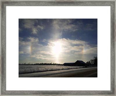 Winter Sun Dogs Framed Print