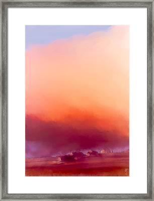 Winter Sun In Iceland Framed Print by Greta Thorsdottir