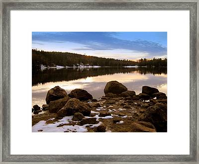 Winter Sunset Framed Print by Bruce Carpenter