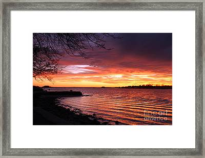 Winter Sunset Framed Print by Butch Lombardi