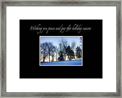 Winter Sunset Christmas Card Framed Print by Daphne Sampson