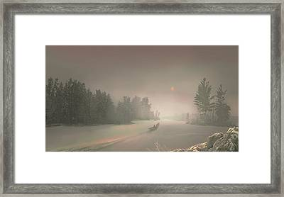 Winter Sunset Framed Print by Igor Zenin