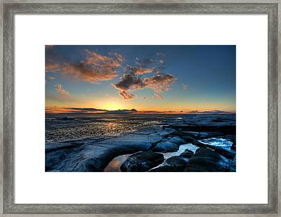 Winter Sunset Framed Print by Micael  Carlsson