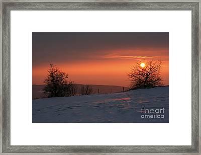 Winter Sunset Framed Print by Michal Boubin