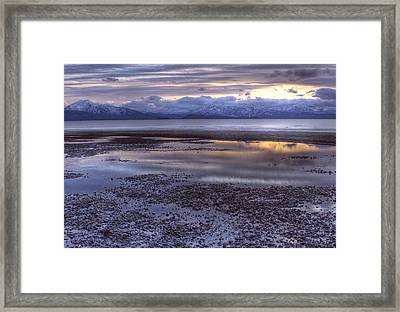 Framed Print featuring the photograph Winter Sunset by Michele Cornelius