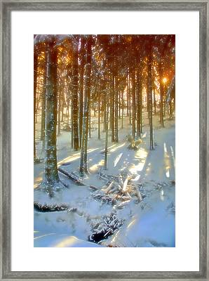 Framed Print featuring the photograph Winter Sunset by Rod Jones