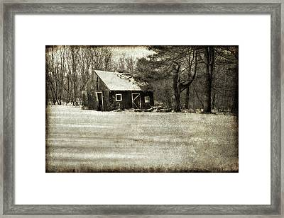 Winter Textures Framed Print by Evelina Kremsdorf