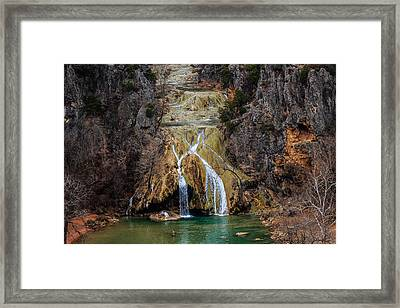 Winter Time At The Falls Framed Print by Doug Long