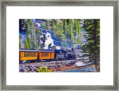 Winter Train Framed Print