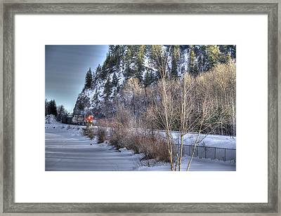 Winter Train Framed Print by Kim French