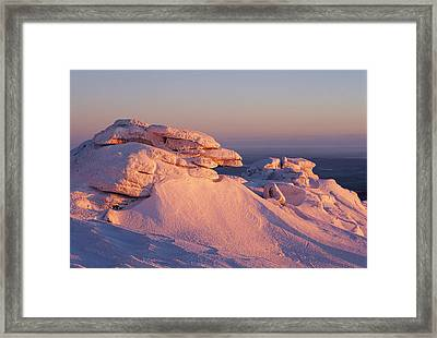 Winter View Of The Top Of Brocken Framed Print