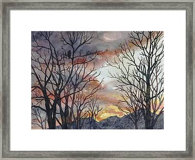 Winter Watch Framed Print by Anne Gifford
