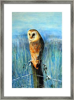 Framed Print featuring the painting Winter Watch by Lynn Hughes