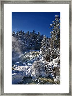 Winter Waterfalls Framed Print by Andre Faubert
