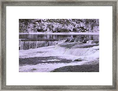 Framed Print featuring the photograph Winter Waterfalls by Josef Pittner
