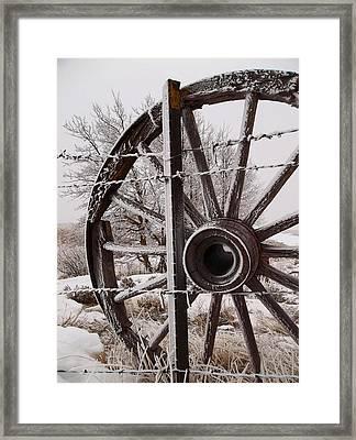 Winter Wheel Framed Print by Wesley Hahn