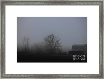 Winter Windmill Framed Print by Erica Hanel